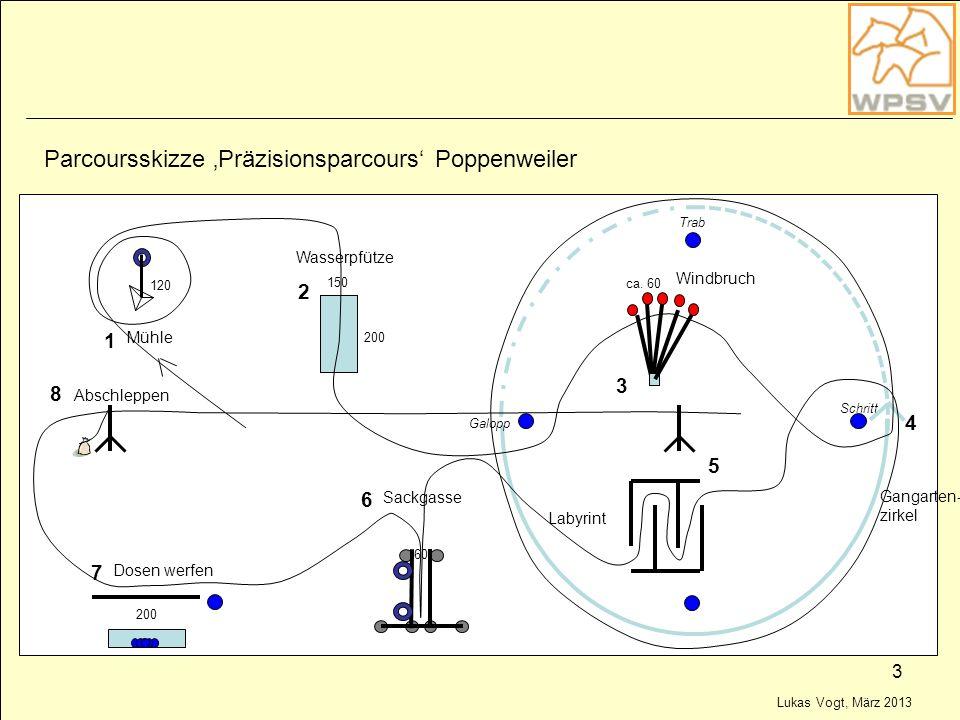 Parcoursskizze 'Präzisionsparcours' Poppenweiler