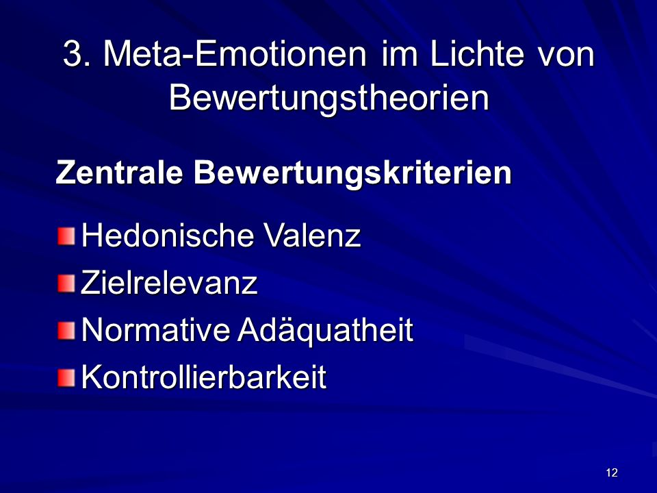 3. Meta-Emotionen im Lichte von Bewertungstheorien