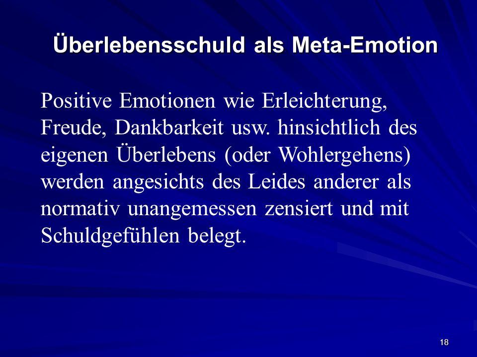 Überlebensschuld als Meta-Emotion