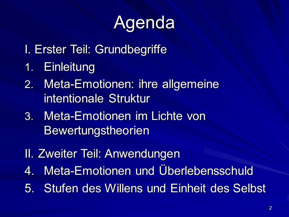 Agenda I. Erster Teil: Grundbegriffe Einleitung
