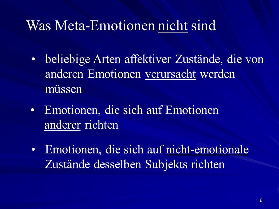 Was Meta-Emotionen nicht sind