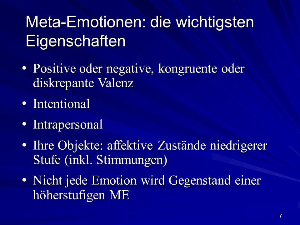 Meta-Emotionen: die wichtigsten Eigenschaften
