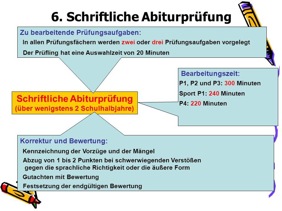 6. Schriftliche Abiturprüfung