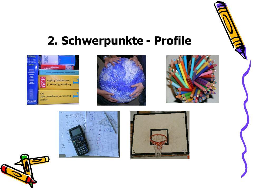 2. Schwerpunkte - Profile