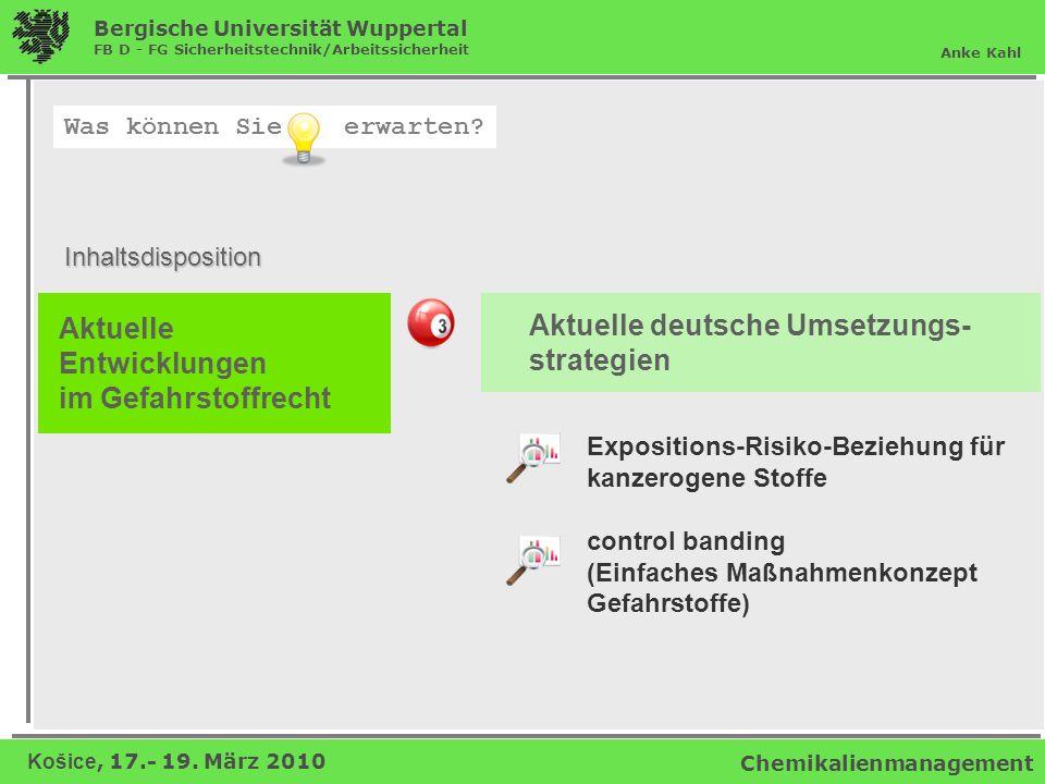 Aktuelle deutsche Umsetzungs- strategien Aktuelle Entwicklungen