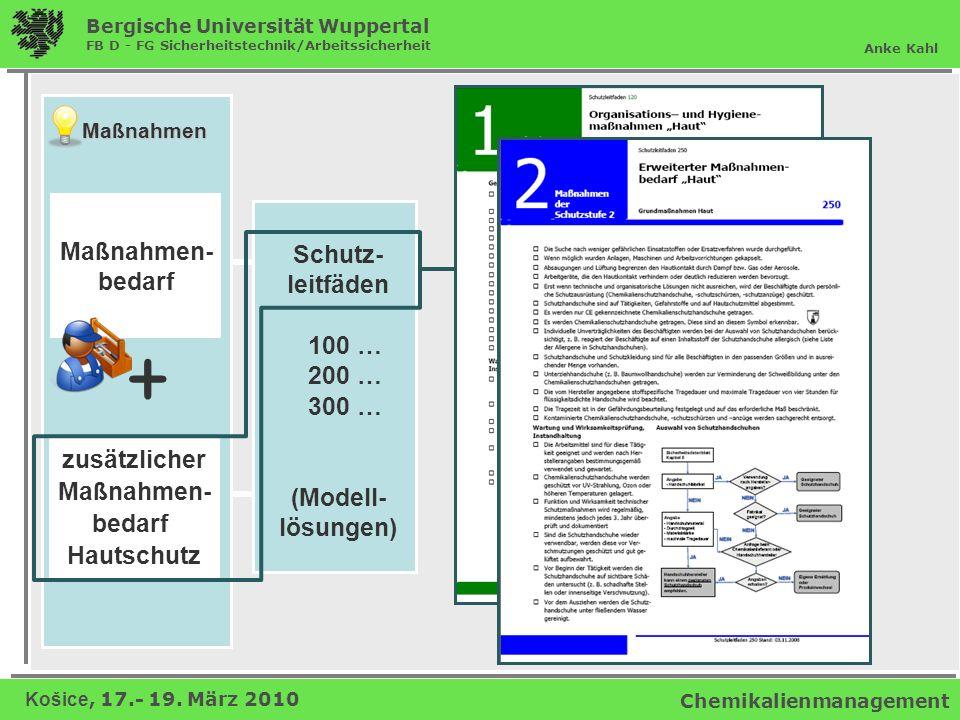+ Maßnahmen- bedarf Schutz- leitfäden 100 … 200 … 300 … (Modell-