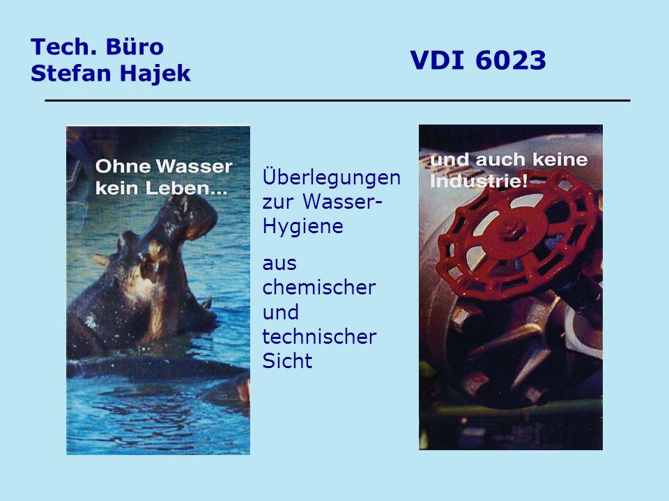 VDI 6023 Tech. Büro Stefan Hajek Überlegungen zur Wasser- Hygiene