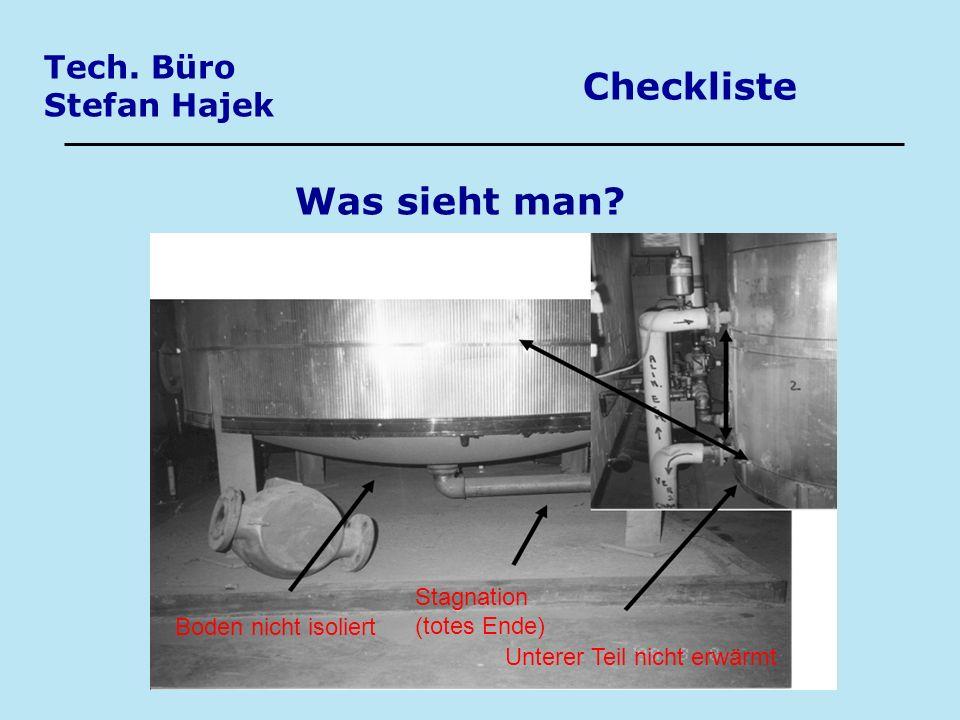 Checkliste Was sieht man Tech. Büro Stefan Hajek
