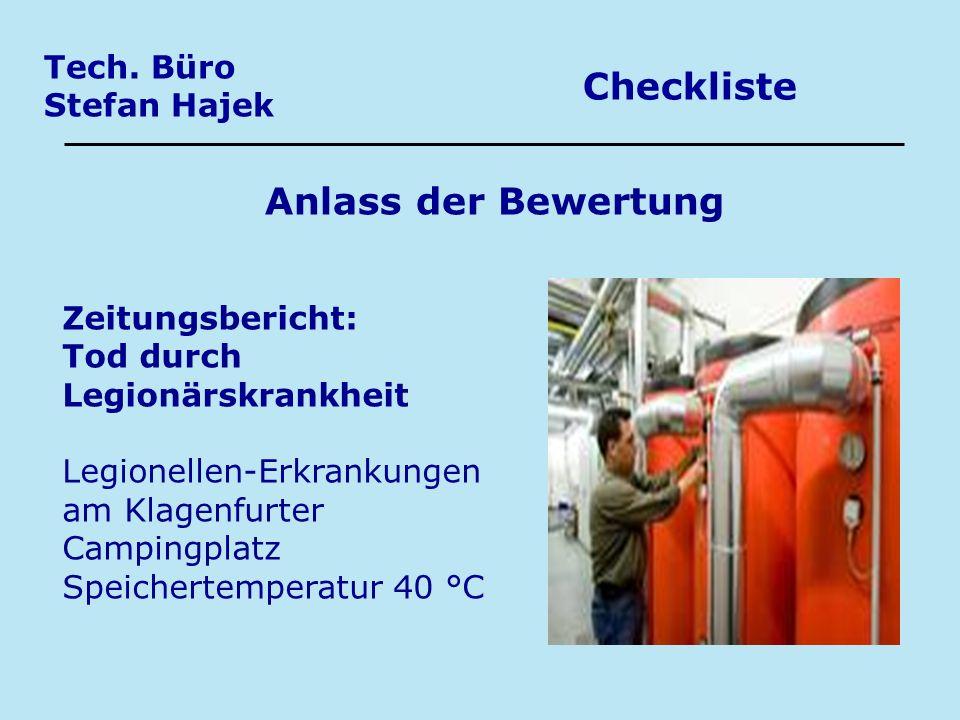 Checkliste Anlass der Bewertung Tech. Büro Stefan Hajek