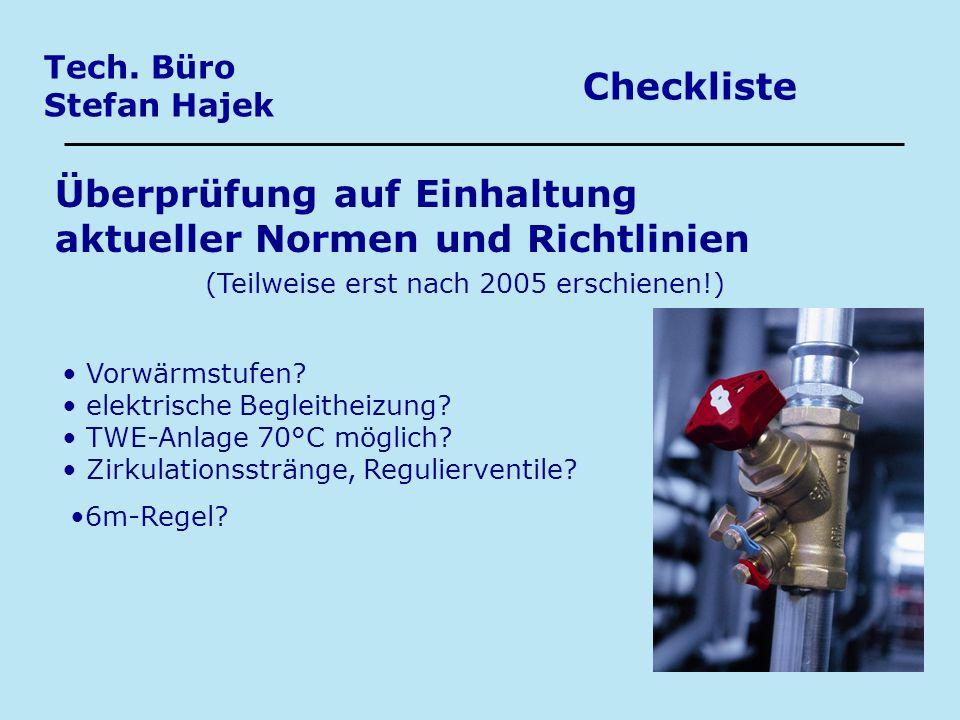 Überprüfung auf Einhaltung aktueller Normen und Richtlinien