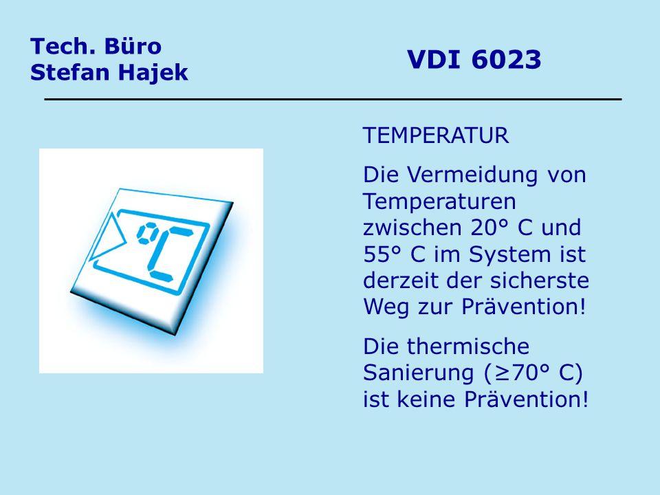 VDI 6023 Tech. Büro Stefan Hajek TEMPERATUR