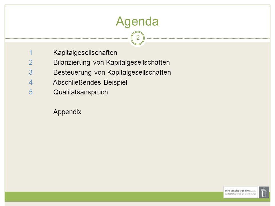 Agenda 1 Kapitalgesellschaften