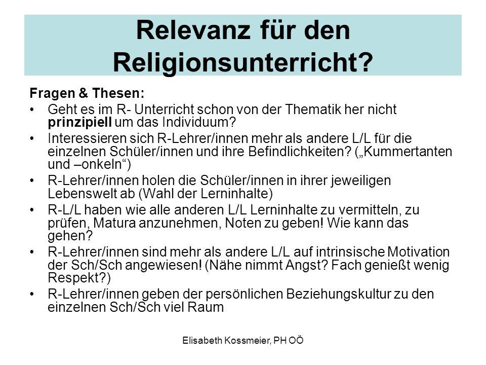 Relevanz für den Religionsunterricht