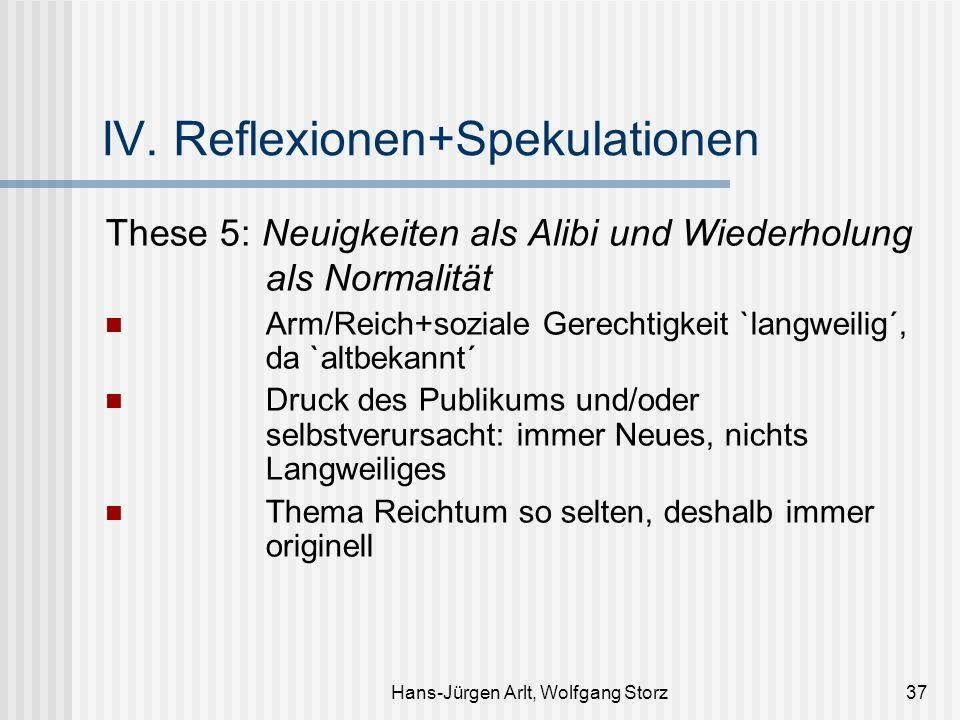 IV. Reflexionen+Spekulationen