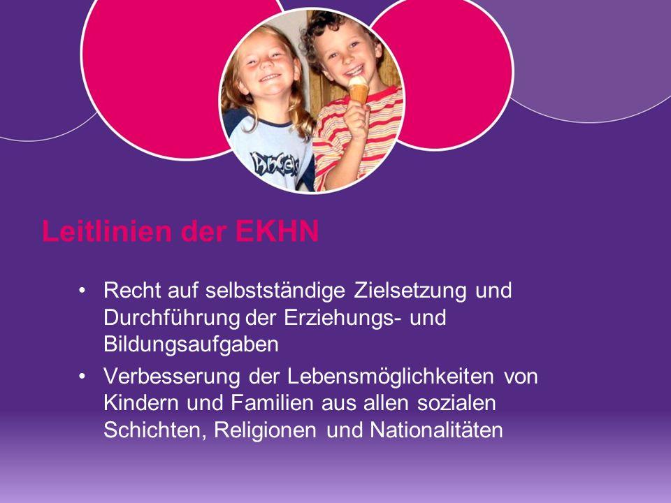 Leitlinien der EKHN Recht auf selbstständige Zielsetzung und Durchführung der Erziehungs- und Bildungsaufgaben.