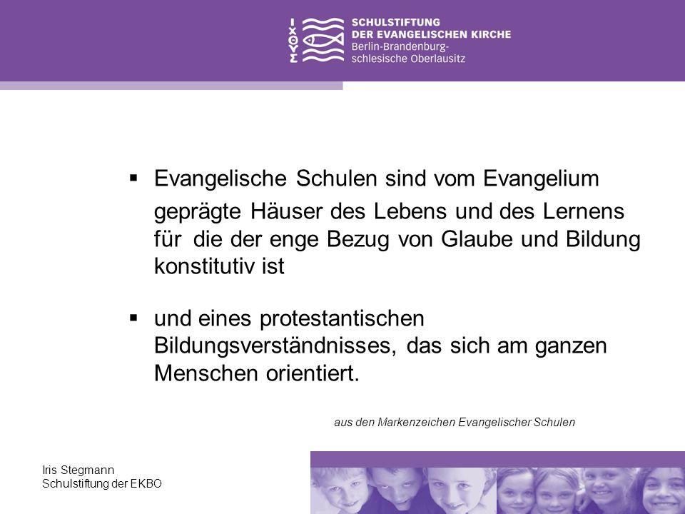 Evangelische Schulen sind vom Evangelium