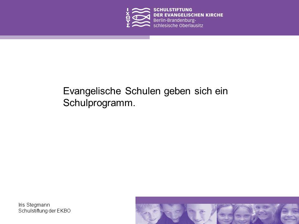 Evangelische Schulen geben sich ein Schulprogramm.