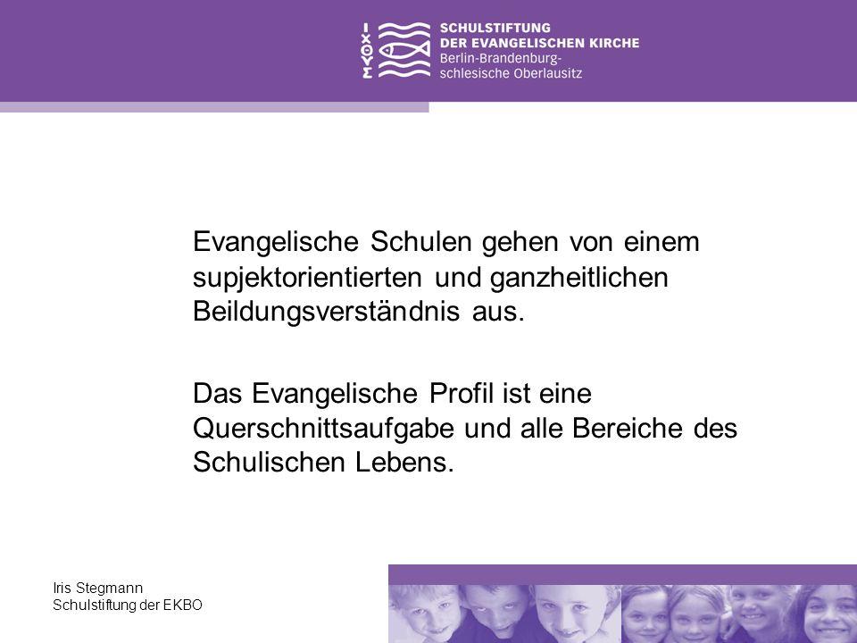 Evangelische Schulen gehen von einem supjektorientierten und ganzheitlichen Beildungsverständnis aus.