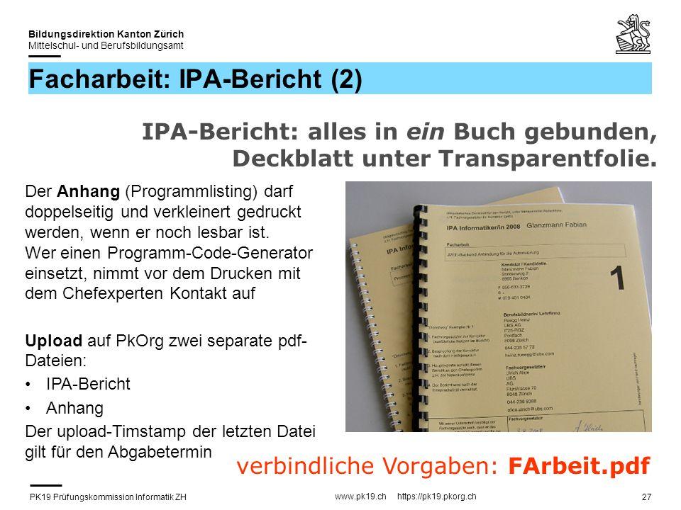 Facharbeit: IPA-Bericht (2)