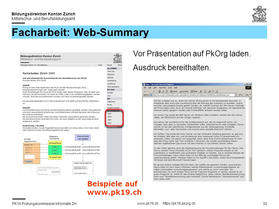 Facharbeit: Web-Summary