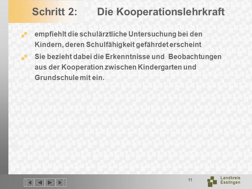 Schritt 2: Die Kooperationslehrkraft