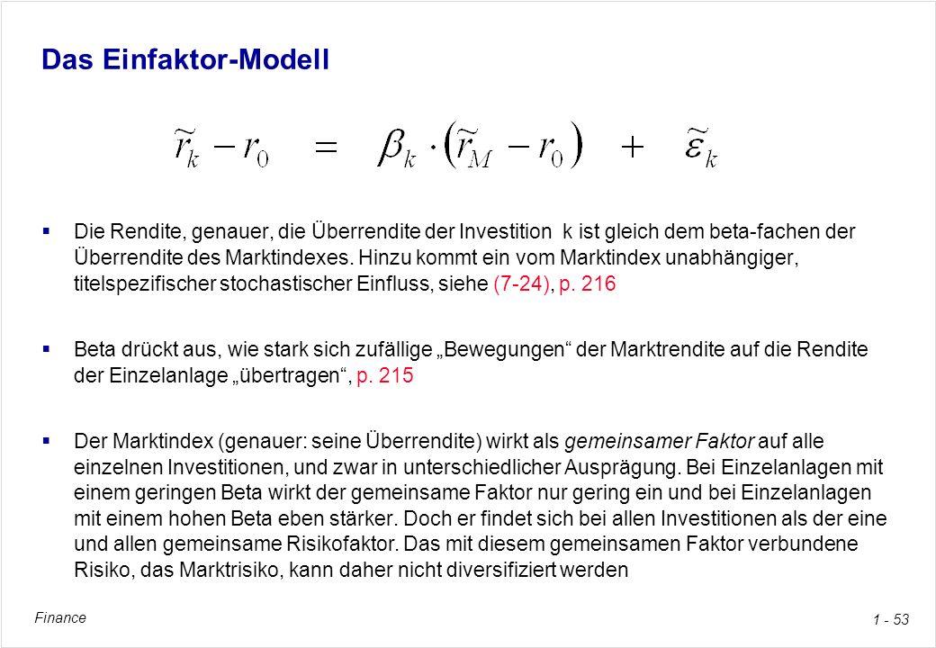 Das Einfaktor-Modell