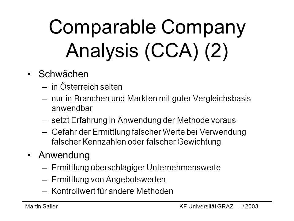 Comparable Company Analysis (CCA) (2)
