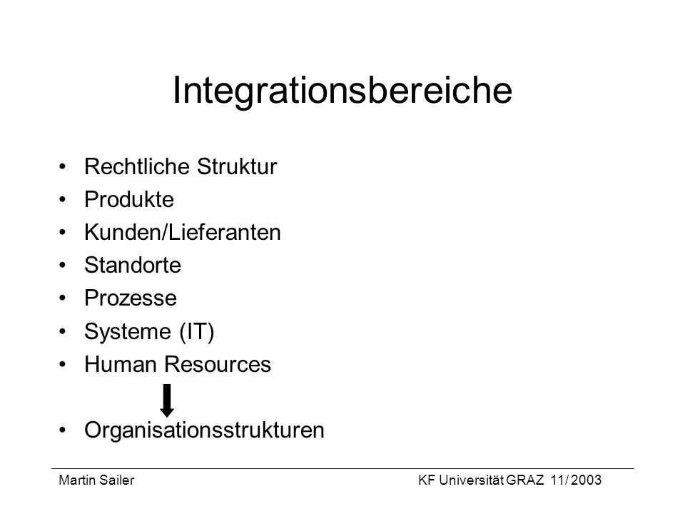 Integrationsbereiche