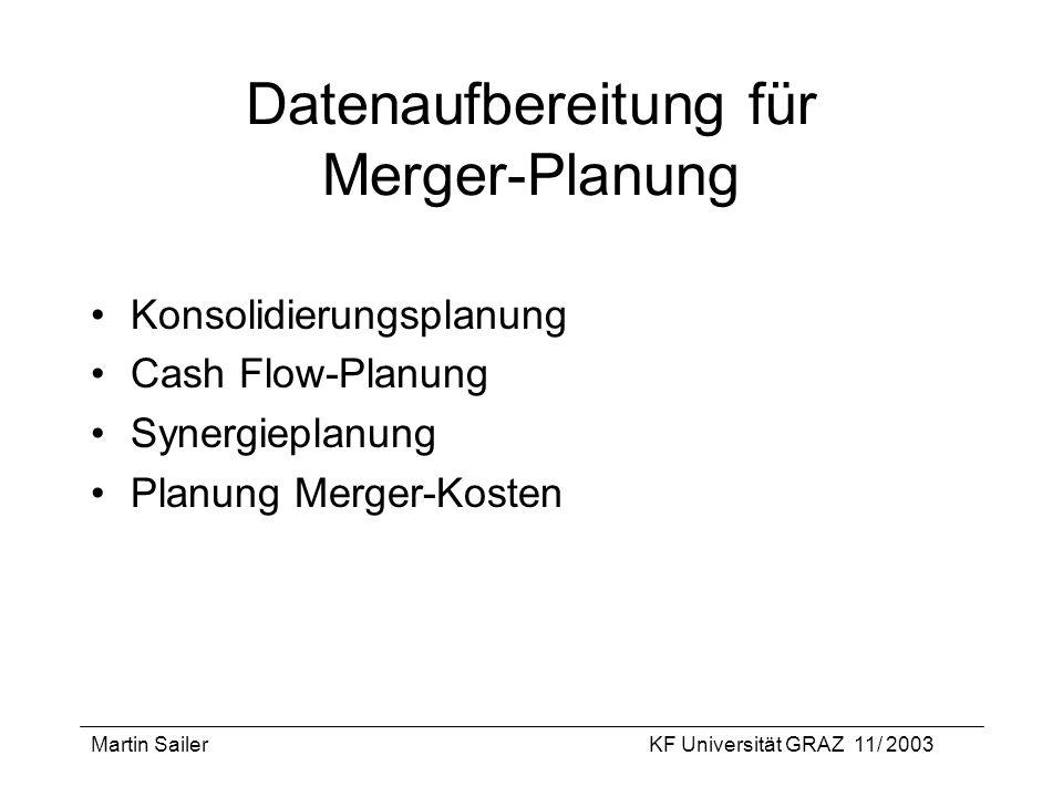 Datenaufbereitung für Merger-Planung