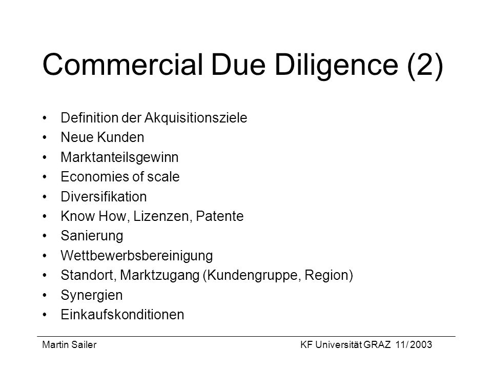 Commercial Due Diligence (2)
