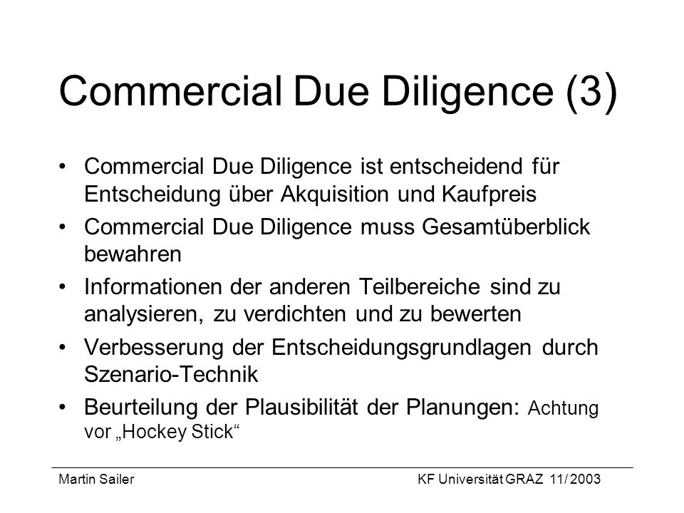 Commercial Due Diligence (3)