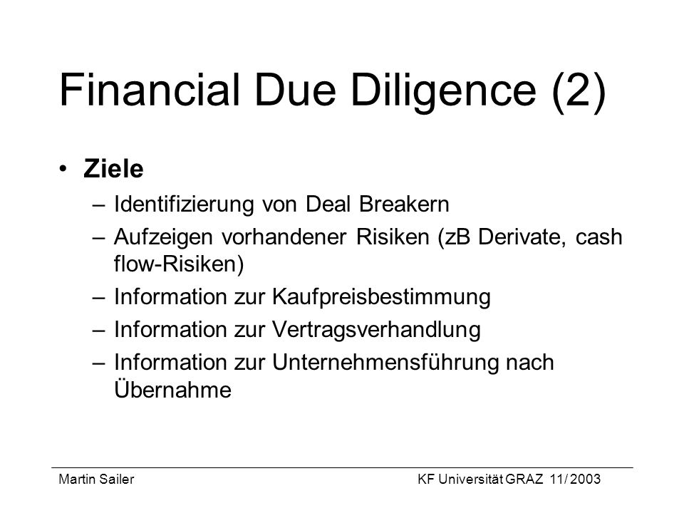 Financial Due Diligence (2)
