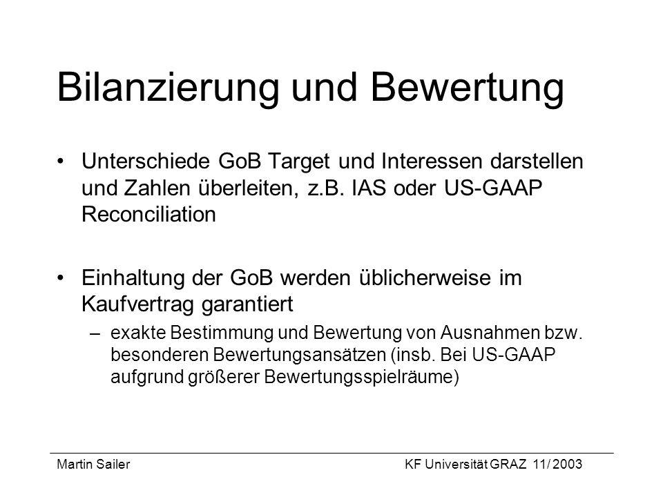 Bilanzierung und Bewertung