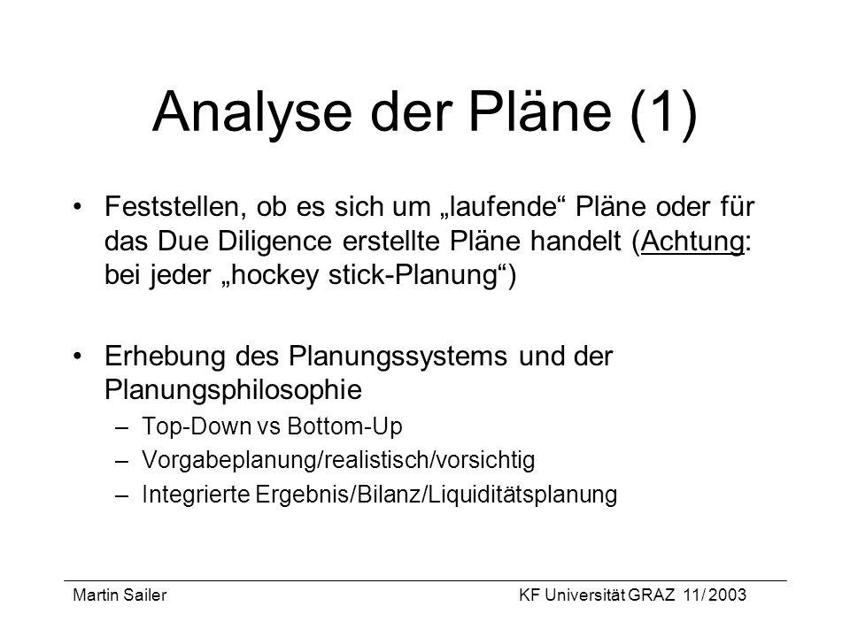 Analyse der Pläne (1)