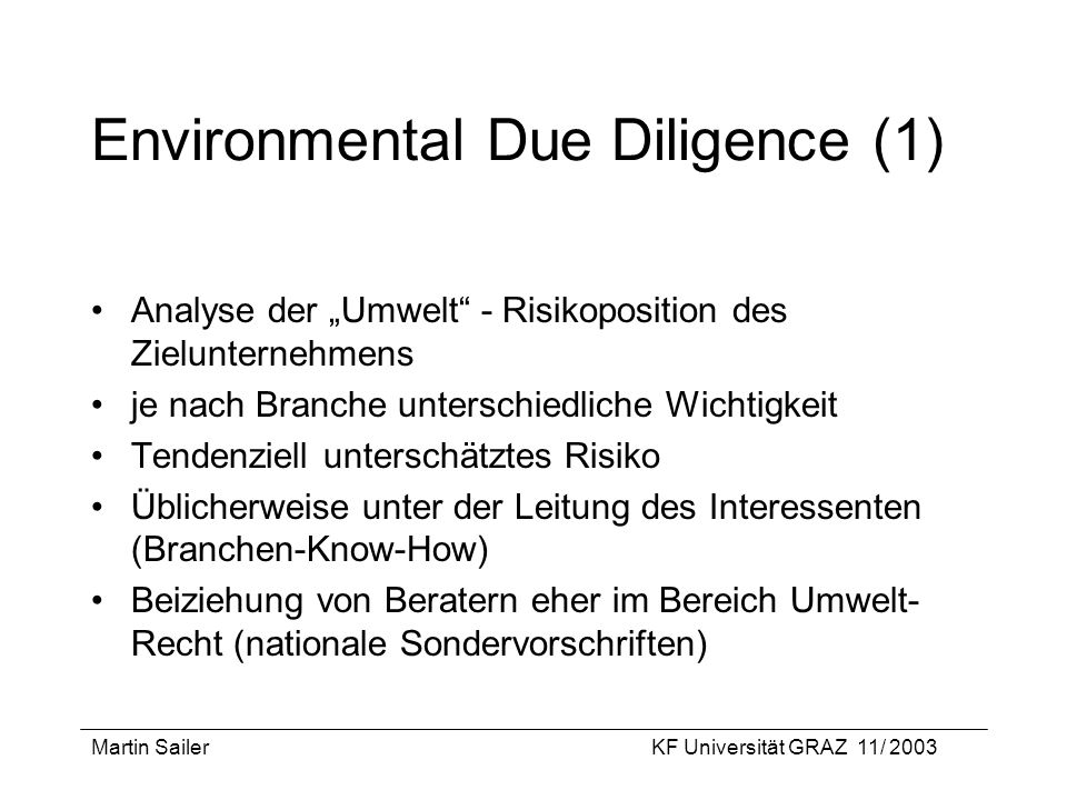 Environmental Due Diligence (1)
