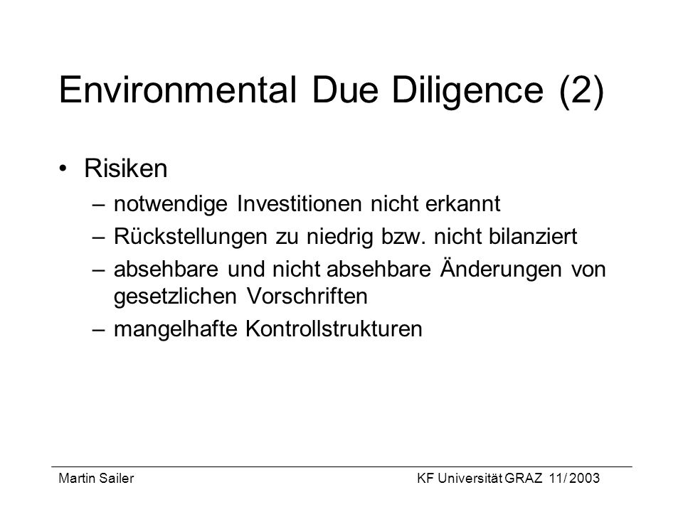 Environmental Due Diligence (2)