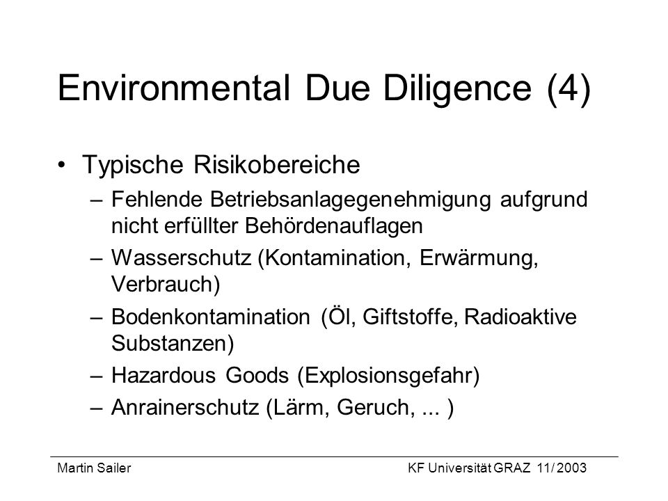 Environmental Due Diligence (4)