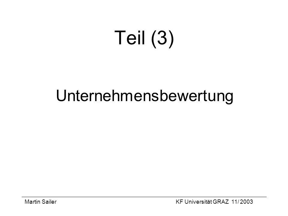 Teil (3) Unternehmensbewertung Martin Sailer
