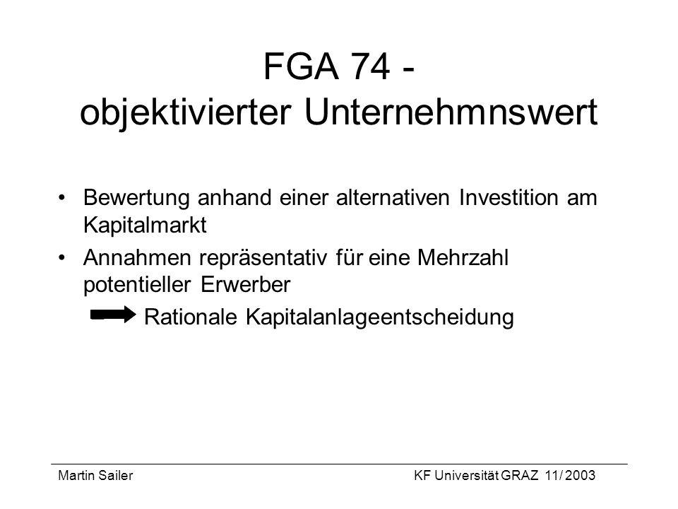 FGA 74 - objektivierter Unternehmnswert