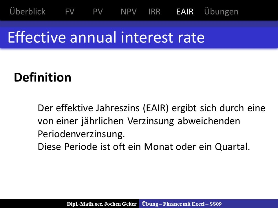 Effective annual interest rate