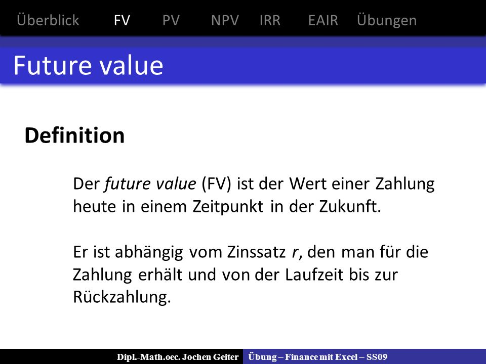 Future value Definition