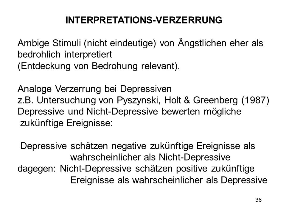 INTERPRETATIONS-VERZERRUNG