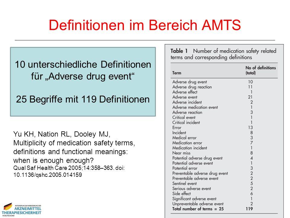 Definitionen im Bereich AMTS