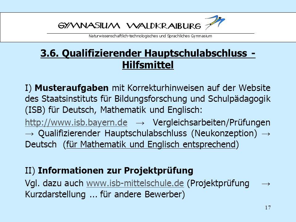 3.6. Qualifizierender Hauptschulabschluss - Hilfsmittel