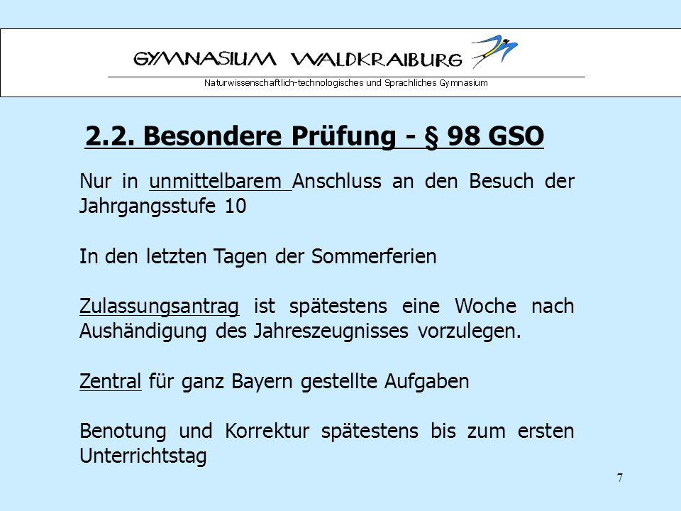 2.2. Besondere Prüfung - § 98 GSO
