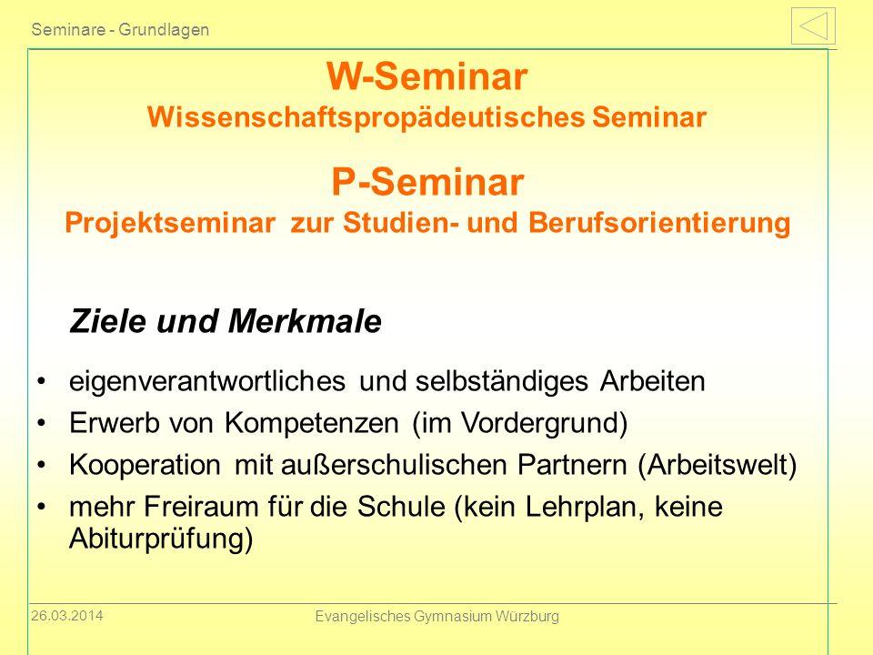 W-Seminar Wissenschaftspropädeutisches Seminar