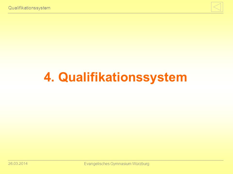 4. Qualifikationssystem
