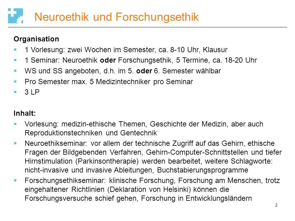 Neuroethik und Forschungsethik