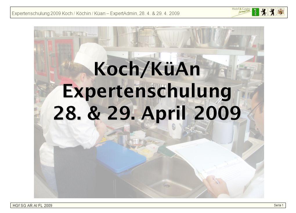 Expertenschulung 28. & 29. April 2009