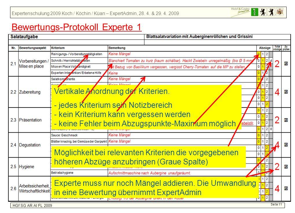 Bewertungs-Protokoll Experte 1
